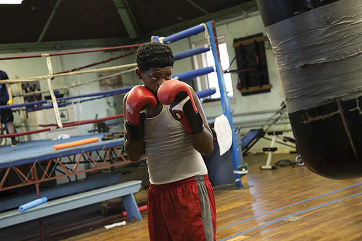 """Annie Risemberg- """"Untitled 1"""" """"When my step father was still alive, he always told me that he wanted me to start boxing –  Marcus 14"""