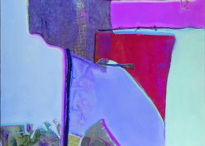 Abstract Collage in Pink and Purple – SOLD