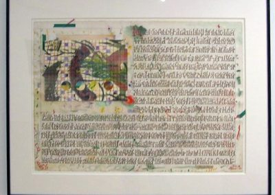 """Peter Arakawa -""""Lunar Metaphysics"""" ink, watercolor, gouache, and collage on paper"""