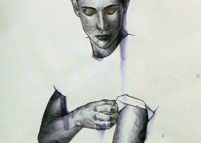 "Daniel Marin Medina – ""Tiny Men Book"", ballpoint pen and sketchbook"