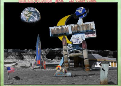 "Zig Mantell -""Moon Motel"" digital collage"