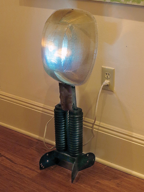 "Fred Cole -""On Staten Island"" street lamp lens found on comer on S.I., large springs found near Raritan River"