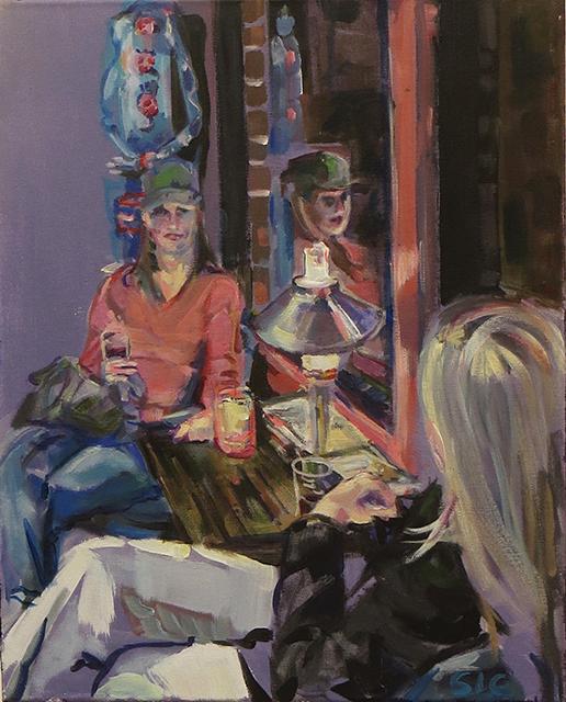"Steven Epstein -""The Au Pairs"" acrylic on canvas"