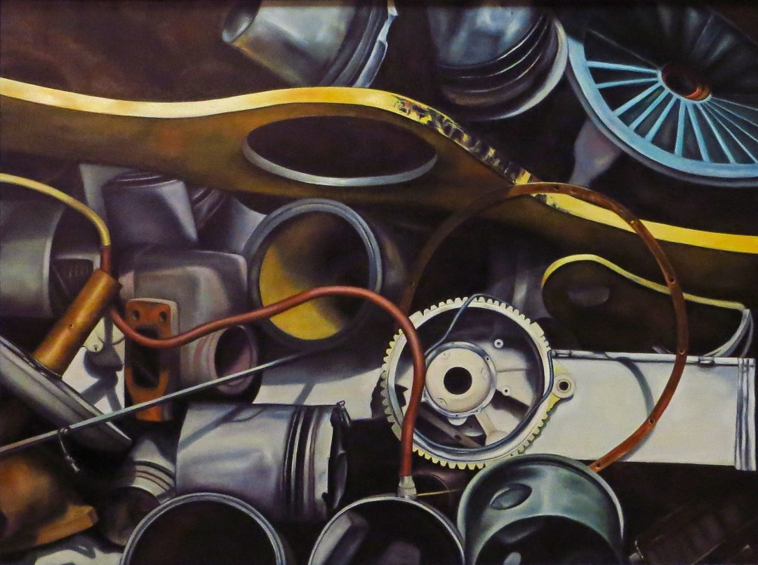 Truck Parts Heaven – oil on canvas 30″ x 40″