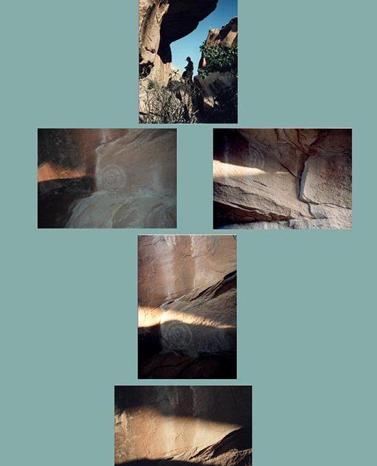"Ruth Jansyn – ""Solstice Marker at Chaco Canyon"" digital montage"