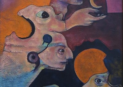 """Stanley Gavidia – """"The Children of the Moon"""" oil on canvas"""