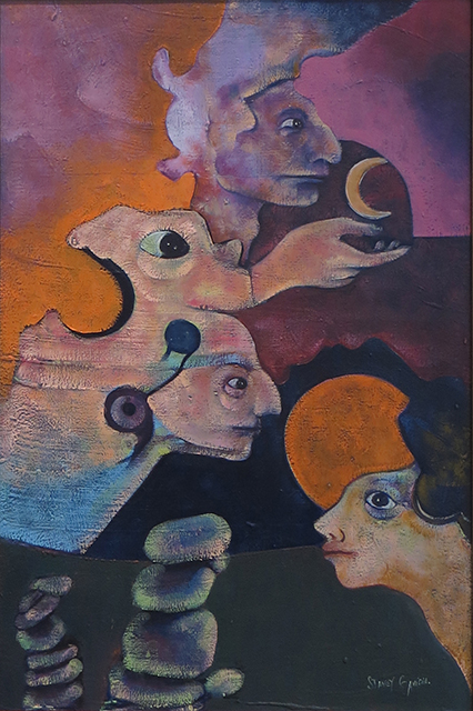 "Stanley Gavidia – ""The Children of the Moon"" oil on canvas"