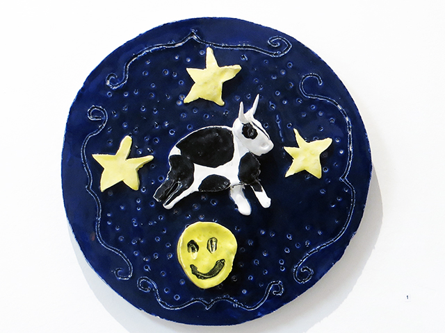 "Shanna Cole – ""The Cow Jumped over the Moon"", ceramic"