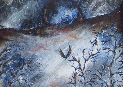 "Jackie Cassidy -""Flyte Night "" acrylic on canvas"