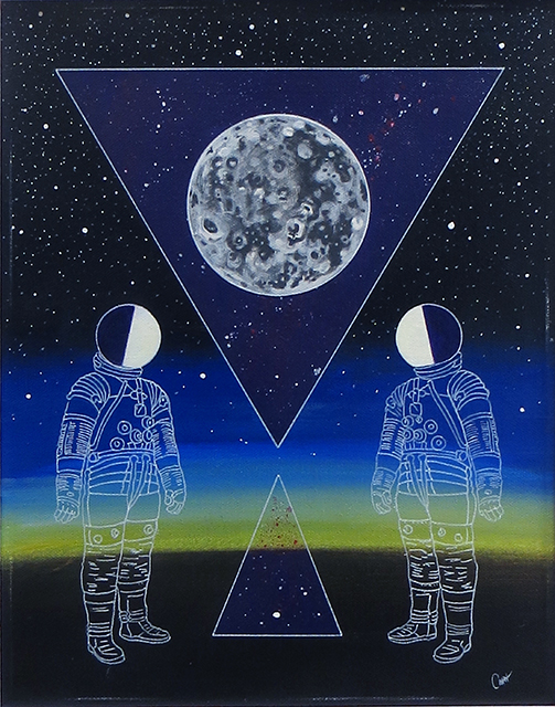 "Curt Harbits – ""Gemini"" acrylic on canvas"