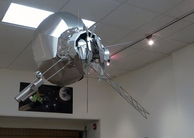 "Jeremy Munson – ""Hermit Satellite"" sculpture aluminum and mylar"