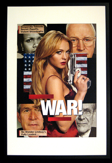 "Luis Alves Collage  ""War"" hand made collage, $650.00"