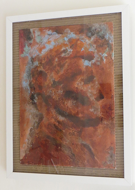 "Natalya Tali Margolin   ""Abraham"" acrylic on canvas board,  $400.00"