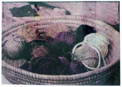 "Jane Settle ""Basket of Yarns"" 4 color separation, Gum Bichromate"