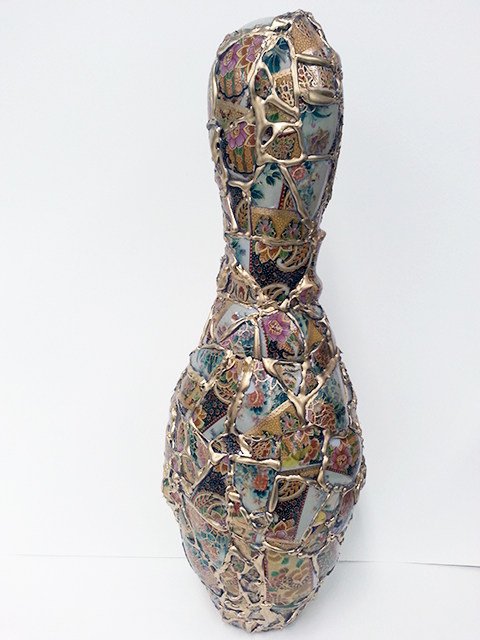 "Kelly Clark  ""Bowling with Yeesookyung""mixed media mosaic"