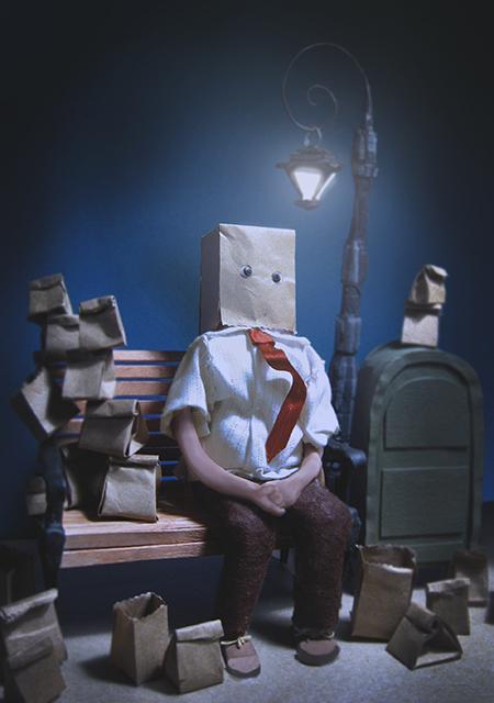 "Caitlin McCormack  ""Brown Bag Life"" print of 3D illustration"