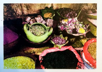 "Jane Settle  ""Middle East Spices""  Lithograph print, Four Color Separation"