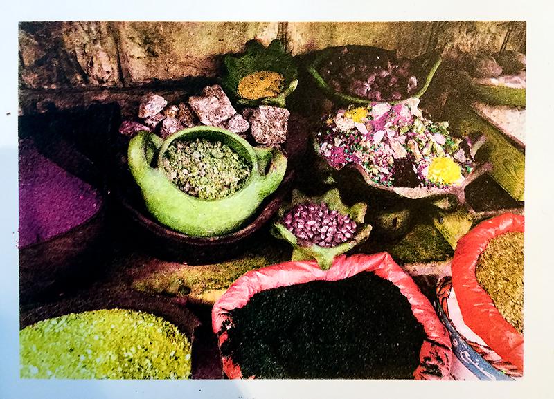 "Jane Settle  ""Middle East Spices"" Lithograph print, Four Color Separation"