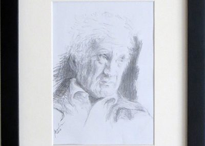"Natalya Tali Margolin   ""Eli Wiesel"" pencil on paper,  $400.00"