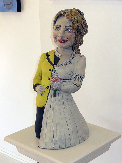 "Cheryl Harper  ""Hillary Bride Doll (inspired by American Girl Dolls)"" ceramic, $3,000.00"