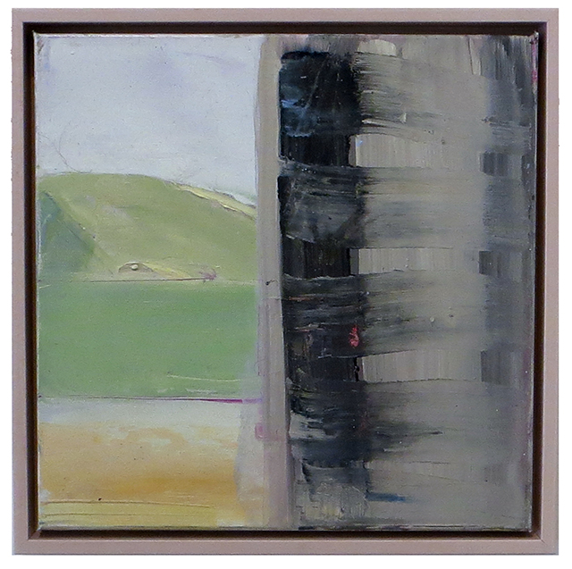 "Gail Winbury – ""Out the Window"" oil"