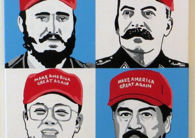 "Chris Ernst ""Make America Great Again"" acrylic on canvas, $300.00"