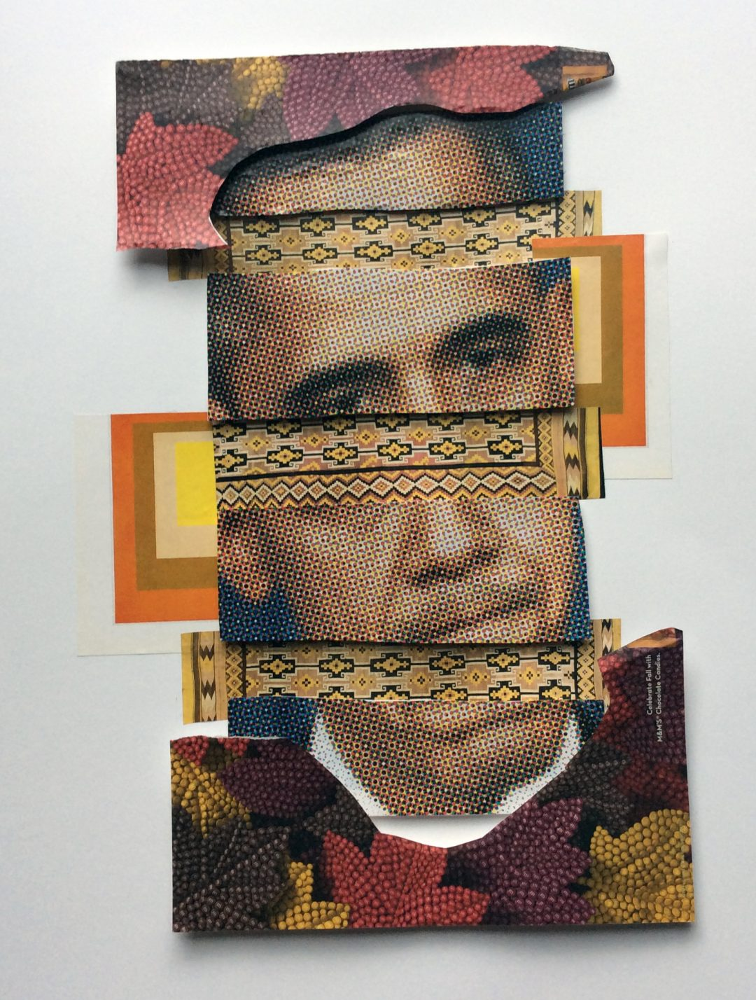 "Judy Skillman  ""Obama"" mixed media collage, $500.00"