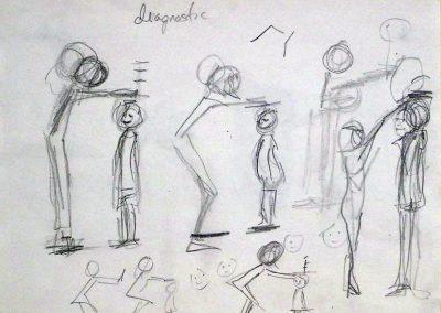 """Rita Herzfeld – """"Growth"""",  graphite on paper"""