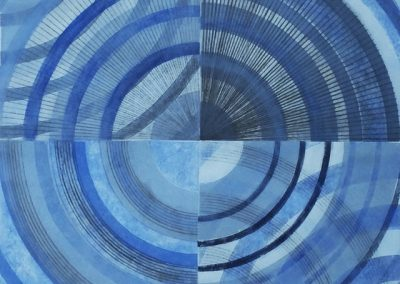 """Heidi Nam """"Juncture of Phases"""" collagraph"""