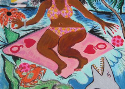 Surf Goddess, Goddess and Figurative Painting Series