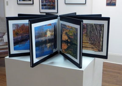 "Ted Settle  ""Accordion Book of the Delaware and Raritan Canal"" photo prints and cut outs"