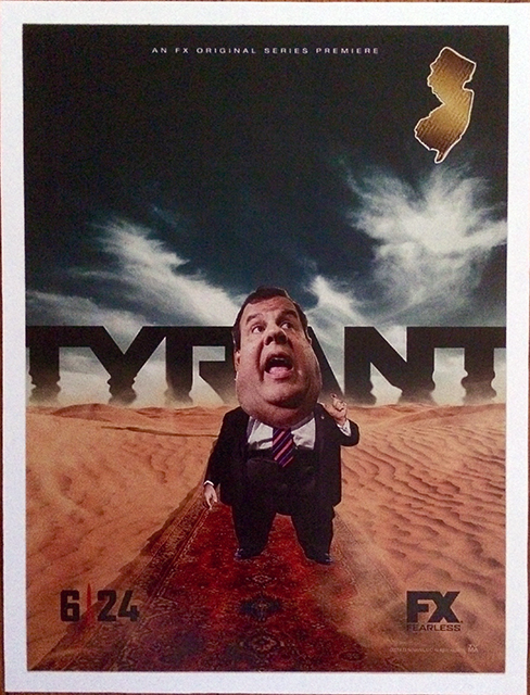 "Luis Alves Collage  ""Tyrant""  hand made collage,  $275.00"