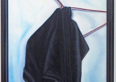 "Joan Sonnenfeld  ""Cloak and Hanger""  oil on canvas"