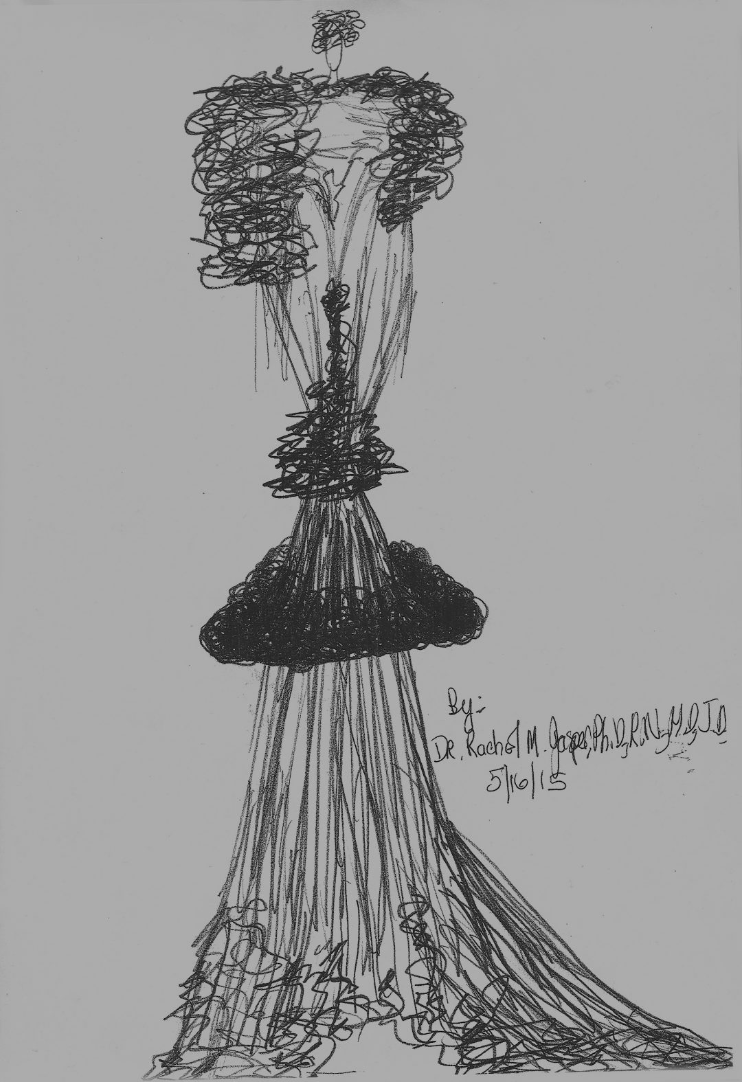 "Dr. Rachel M. Jasper   ""The Event of Beautiful Dresses of Love Saturn Glow Galaxy Collection of Evening Wear ""  sketched designs"