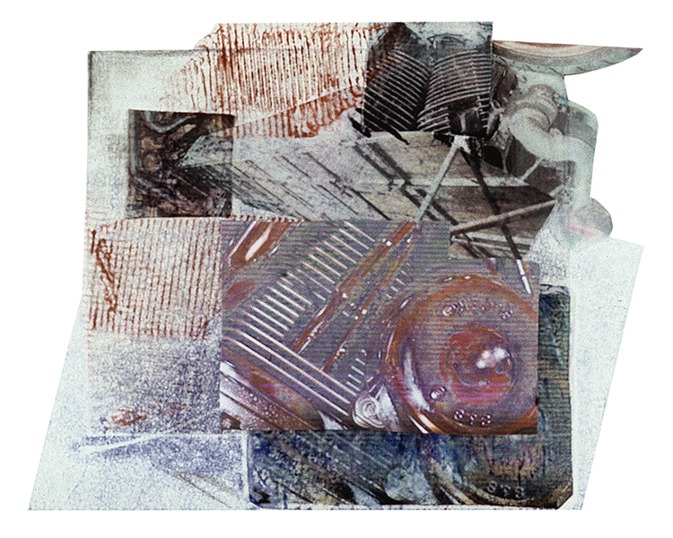 "Kelly Clark  ""Caustic""  monotype collage"