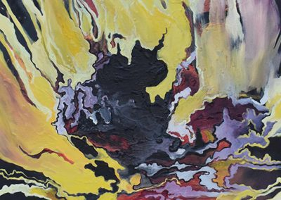 "Liz Levering  ""The Dance""   (fire painting 1)  oil on canvas"