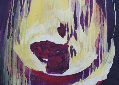 "Liz Levering  ""The Meeting""   (fire painting 2)  oil on canvas"