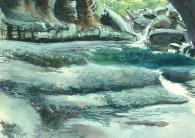 "Brian McCormack ""Blue Grotto"" watercolor"