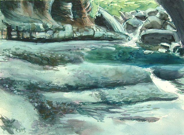 "Brian McCormack ""Blue Grotto"" watercolor"