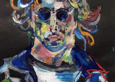 "Ivan Constante  ""Lennon""  acrylic on paper"