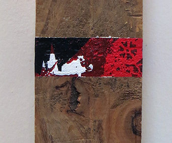 "Jessica Demcsak  ""Burning"" acrylic on wood, $700.00"