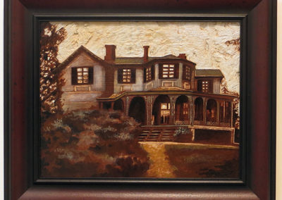 """Sean Carney  """"Ellarslie"""" wood stain on etched pine, $400.00"""