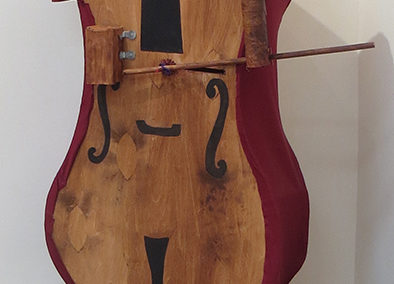 "Christy O'Connor ""Cellist"" mixed medium sculpture, $1,800.00"