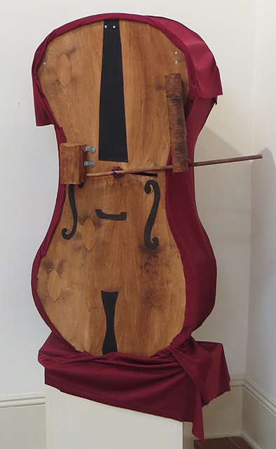 "Christy O'Connor ""Cellist"" mixed medium sculpture, $1,800.00"