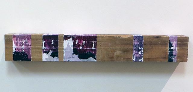 "Jessica Demcsak ""Interruption of Chaos"" acrylic on wood, $850.00"