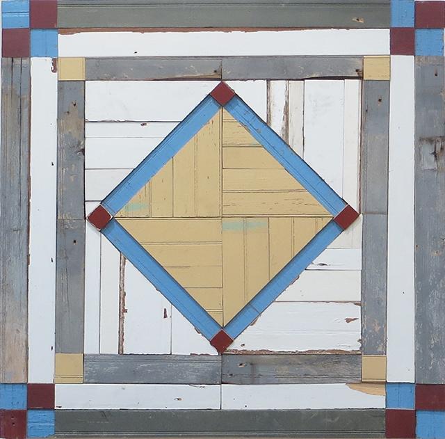 "Laura Petrovich-Cheney ""Center Stage"" salvaged wood form Hurricane Sandy, $3,000.00"