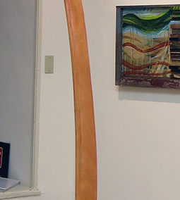 """Fred Cole """"Study at Sea"""" recycled wood and metal hook, $150.00"""