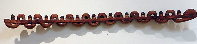 "B. John Kaufman ""Sine:Cosine"" carved from laminated Douglas Fir, $500.00"