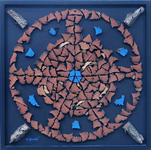 "Jack Quinn ""Vitruvian Man"" ash bark and acrylic, $1,200.00"