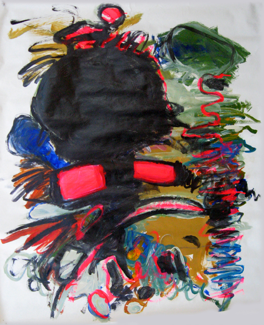 Untitled  – paint, craypaz, ink on paper